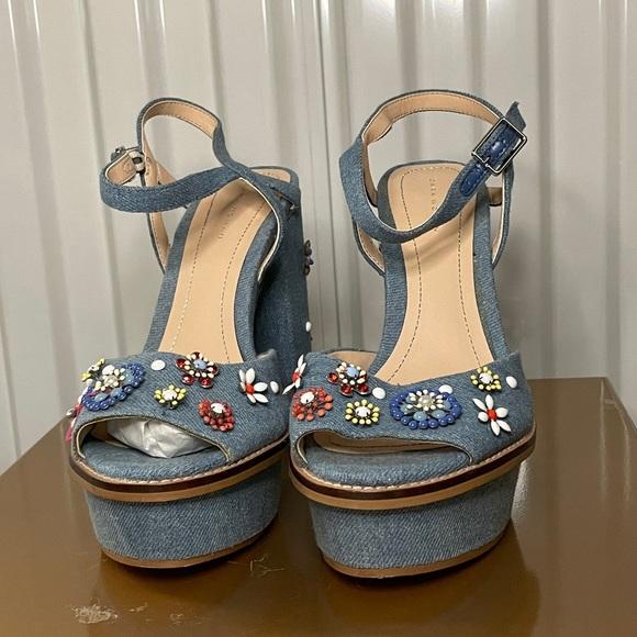 Zara Summer Floral Block Heels